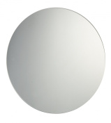 60cm Diameter Plain Frameless Circular Bathroom Mirror with Chrome Effect Metal Spring Loaded Wall Hanging Fixing Clips