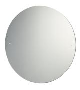 40cm Diameter Drilled Circular Bathroom Mirror with Chrome Cap Wall Hanging Fixing Kit