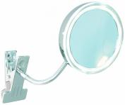 Enzo Rodi Athene 411610 LED Clip Mirror 10.5 cm Diameter Chrome with Clip