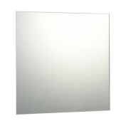 50 x 50cm Plain Frameless Bathroom Square Mirror with Wall Fixings