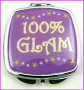 100% More Glam Make-Up Compact Mirror