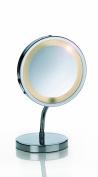Kela Lola 21496 Standing Mirror with Lights 15 cm 3x Magnification