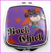 Rock Chick Make-Up Compact Mirror