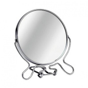 Shaving Mirror Medium Chrome Frame With Stand & Magnifying Option
