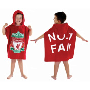 Kids/Childrens Liverpool Poncho 100% Cotton Hooded Towel