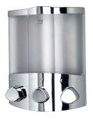 Croydex Euro Soap Dispenser Trio Chrome