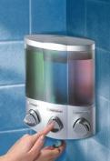 Aviva Trio Soap Shampoo Dispenser Satin/Silver Finish