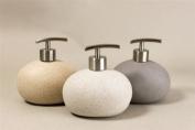 Sand Stone Effect Ceramic Round Soap Liquid Dispenser