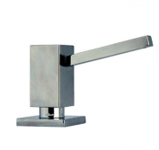 Alfi Trade WHSQ-SD003-BN 9.5cm . Q-Haus solid brass soap-lotion dispenser- Brushed Nickel