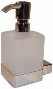 Emco Loft 237576 Liquid Soap Dispenser Crystal Glass Frosted Plastic Matte Chrome