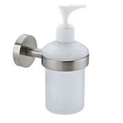 Nie wieder bohren (No More Drilling) Moon MO412 Soap Dispenser 7 x 11 x 15.5 Chromed with Mounting Technology