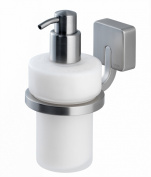 Tiger Impuls 38603_09 Soap Dispenser Stainless Steel / Zamak Matt Brushed with Frosted Genuine Glass Holder