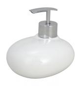 """Wenko """"Pebble Stone"""" 19496100 Soap Dispenser White"""