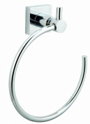 """Nie Wieder Bohren Hu207 18 x 6.5 x 19.5cm Hukk Towel Ring with """"Never Drill Again"""" Fastening Technology - Chrome Plated"""