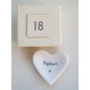 18 Porcelain Heart Dish by East of India