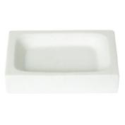 Enzo Rodi 82741 Soap Dish Poly-Resin Free-Standing White