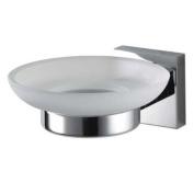 Aqualux 1120449 Chrome Mezzo Wall Mount Glass Soap Holder, 140 mm