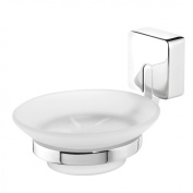 Tiger Impuls 38553_09 Soap Dish Stainless Steel / Zamak Matt Brushed with Frosted Genuine Glass