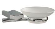 Wave Frosted Glass and Chrome Soap Dish