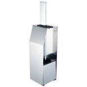 Aqualux 1143817 Chrome Edge Wall Mount/Free Standing Toilet Brush
