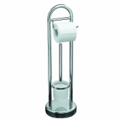 Axxentia Bad 282250 Marino Toilet Brush Holder Chrome-Plated with Toilet Roll Holder and Metal Handle Height 64 cm