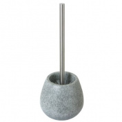 Enzo Rodi 83306 Polyresin Standing Toilet Brush Holder Stone-Grey