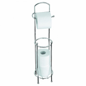 Axxentia Bad 282245 Udana Toilet Roll Holder Chrome-Plated Stand with Additional Space for 3 Rolls Height 66 cm