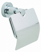 """Nie Wieder Bohren Lo236 12.5 x 8.5 x 14.5cm Loxx Toilet Roll Holder with Lid with """"Never Drill Again"""" Fastening Technology - Chrome Plated"""