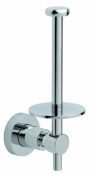 Nie wieder bohren (No More Drilling) LO234 Toilet Roll Holder 6.5 x 9.2 x 18.5 Chromed with Mounting Technology