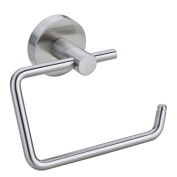 Nie wieder bohren (No More Drilling) Moon MO235 Toilet Roll Holder without Lid 13.8 x 5 x 10.5 Chromed with Mounting Technology