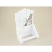 Nautical White Wooden Toilet Roll Holder Seaside Beach Theme