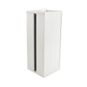 White Shaker Wooden Toilet Rolls Store