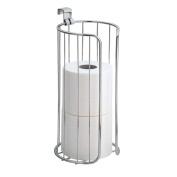 InterDesign Classico Bathroom Over-the-Tank Vertical Toilet Tissue Roll Holder, Chrome