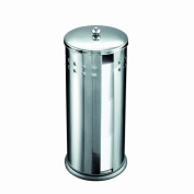 Axxentia Bathroom 282240 Bustino Replacement Toilet Roll Box Stainless Steel with Lid for 3 Rolls Height 38 cm