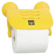 Enzo Rodi Viva 264902 Toilet Roll Holder with Cover Sunny Yellow