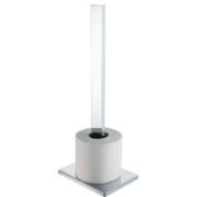 Aqualux 1143818 Chrome Edge Spare Toilet Roll Holder, Bathroom