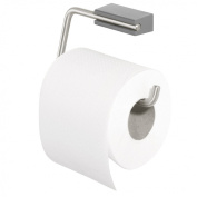 Tiger Cliqit 28653 Toilet Paper Holder without Cover / Brushed Stainless Steel Holder with ABS Plastic Wall Mount Grey