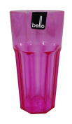 Quality Bello Plastic Large Water Cocktail Tumbler Glass in Pink