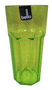 Quality Bello Plastic Large Water Cocktail Tumbler Glass in Green