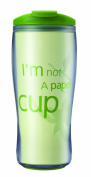 Aladdin 0.35 Litre Clarity Green and Clever Tumbler, Green