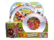 Moshi Monsters - Tumbler, Bowl & Plate Set (Dinner Set Meal Set) - Moshi Monsters