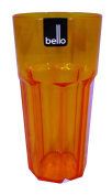 Orange Quality Bello Plastic Water Cocktail Tumbler Glass Picnic 4 for £4.00