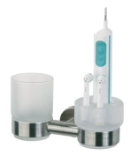 Tiger Boston Bathroom Series 3078 Dental Care Toothbrush Holder Set with Glass