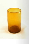 Tall tumbler, recycled, handblown glass (13cm) - Amber