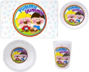 We Can Cook Children's Dinner Set - Bowl Plate Tumbler Placemat