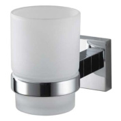 Aqualux 1115894 Chrome Mezzo Wall Mount Tumbler Holder, Bathroom