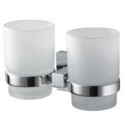 Aqualux 1117098 Chrome Mezzo Double Glass Holder, Bathroom