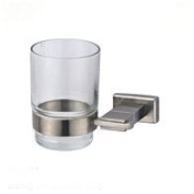Stainless steel single toothbrush holder glass cup