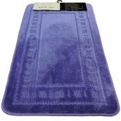 Armoni Blue Bath Mat Set 2 Piece Bathroom Set Bath Mat Pedestal Mat Non Slip Backing