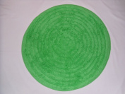Bath Mat [Vibrant Green Colour] - 100% Cotton, Absorbent, Anti-slip, Round shaped (Size